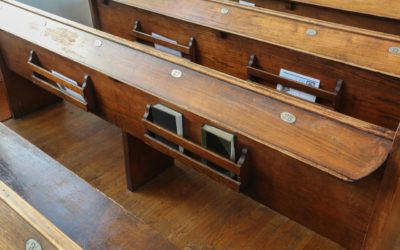 Congregation Beth Abraham, Numbered Pews and Siddur Book Holders