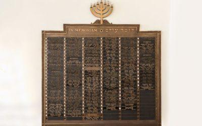 Congregation Beth Abraham, Merged Memorial Board of Congregation Beth Abraham and Temple Beth Israel