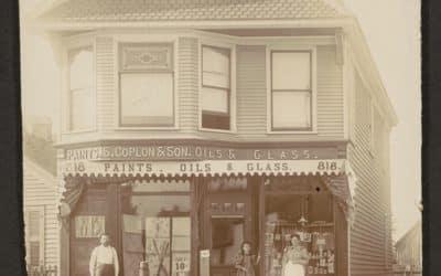 Coplon Paints, Oils and Glass Store, c. 1912