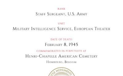American Battle Monuments Commission, Kurt R. Jacobs, Certificate